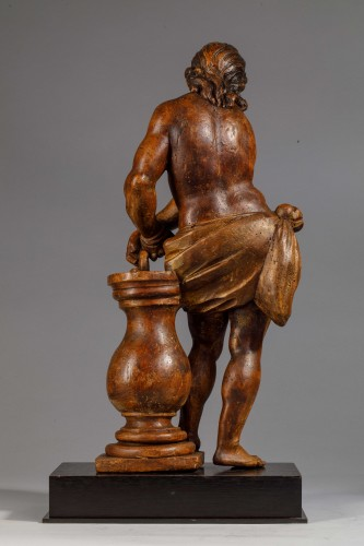 Christ with the column in fruit wood - Italy (Naples?), 17th century -