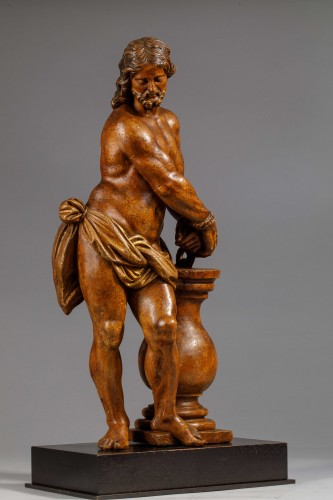 Christ with the column in fruit wood - Italy (Naples?), 17th century - Louis XIV