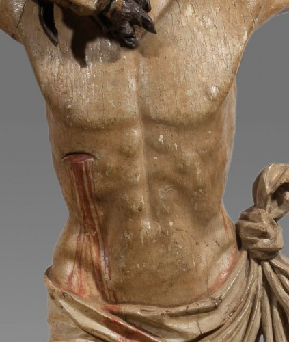 Monumental Christ In Wood, Italy 17th Century - Louis XIV