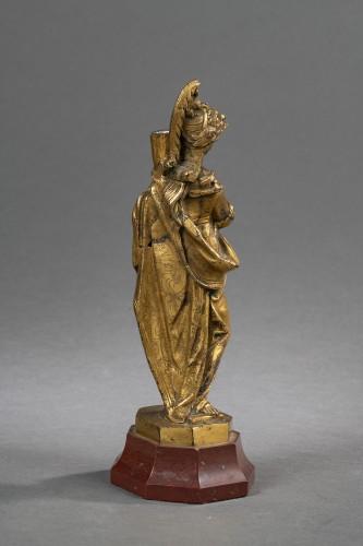 Sculpture  - Minerva Candlestick In Gilt Bronze - Venice, XVIIth Century
