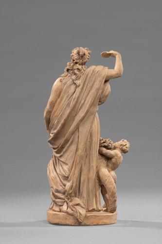 Sculpture  - young woman standing - terracotta