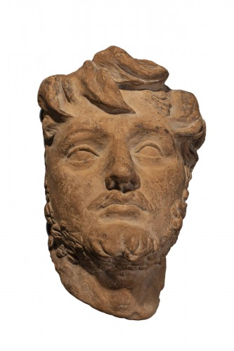Terracotta man's head - Genoese School, 17th century