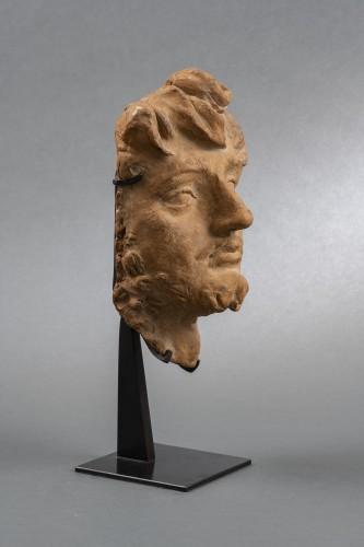Terracotta man's head - Genoese School, 17th century - Sculpture Style Louis XIV