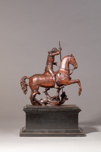 Sculpture  - Saint George slaying the dragon - Gothic Revival