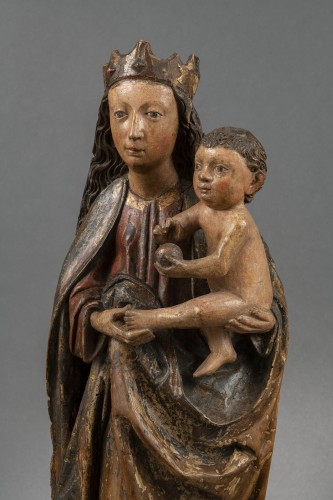 Virgin with Child - Workshop of Ulm, 1470-1480 - Sculpture Style Middle age
