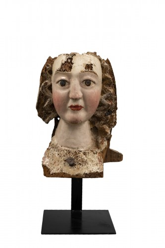 Gothic female head - Rhine, Second half of the 13th century