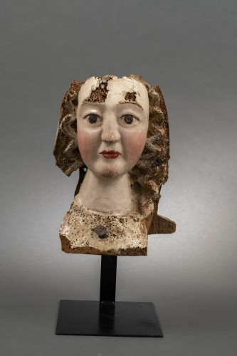 Gothic female head - Rhine, Second half of the 13th century - Middle age