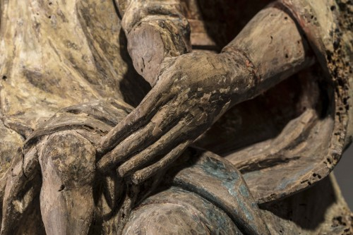 Sedes Sapientiae in walnut - Limousin, Second half of the 15th century  -