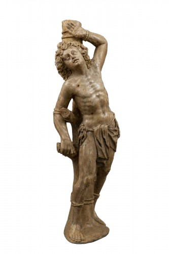 Attributed to Jörg Zürn - Saint Sebastian in alabaster, c. 1625
