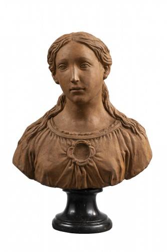 Renaissance Reliquary bust in terracotta - North of Italy, 16th century
