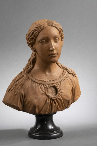 Renaissance Reliquary bust in terracotta - North of Italy, 16th century  - Sculpture Style Renaissance