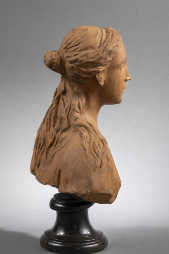 Sculpture  - Renaissance Reliquary bust in terracotta - North of Italy, 16th century