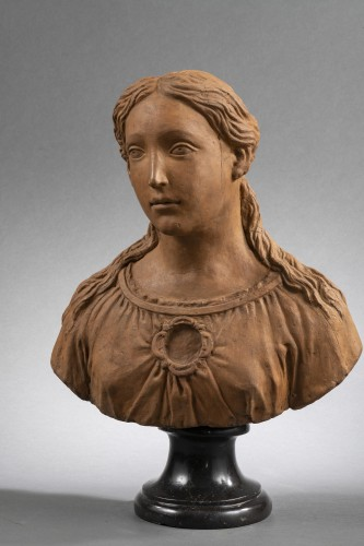Renaissance Reliquary bust in terracotta - North of Italy, 16th century  - Renaissance
