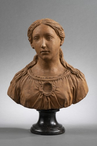 Renaissance - Renaissance Reliquary bust in terracotta - North of Italy, 16th century