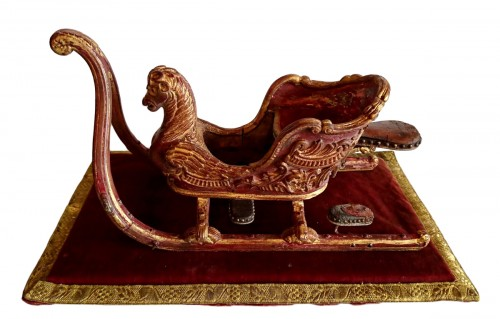 Austrian or Bavarian miniature sleigh, Rocaille style, circa 1730