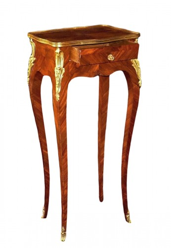 French Louis XV rosewood marquetry side table, circa 1750