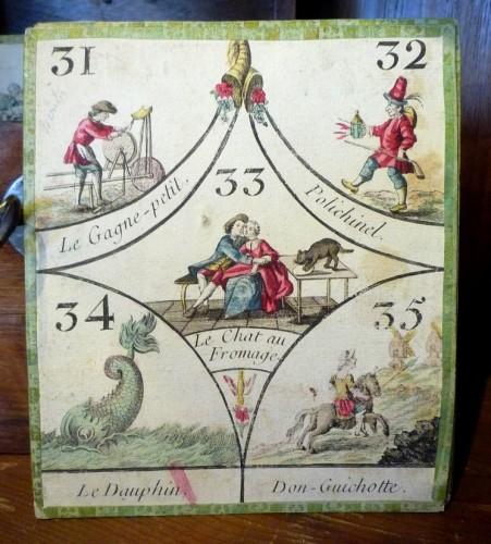 "18th century - French Louis XV period ""cavagnole"" game, circa 1760"