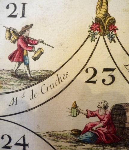 "French Louis XV period ""cavagnole"" game, circa 1760 - Louis XV"