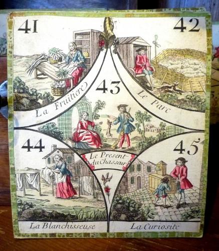 "Antiquités - French Louis XV period ""cavagnole"" game, circa 1760"