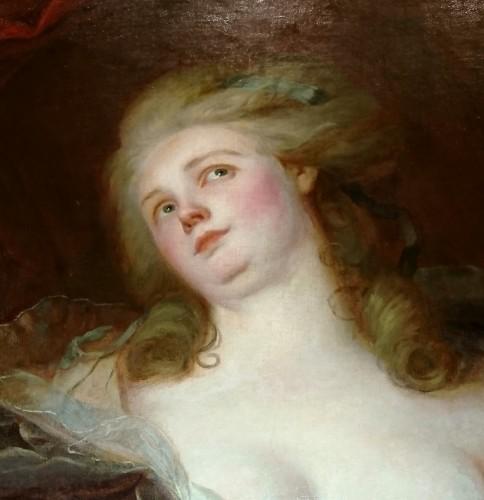 La Rêverie - J. J. HEINSIUS, circa 1780 - Paintings & Drawings Style Louis XVI