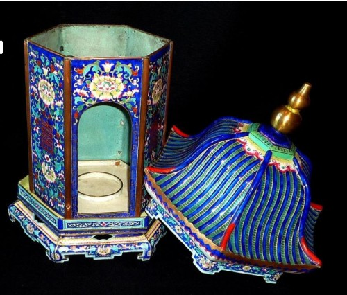Chinese K'ien-Lung period pagoda shaped Canton enamel lantern, 18th C. - Asian Art & Antiques Style