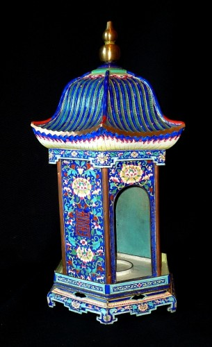Asian Art & Antiques  - Chinese K'ien-Lung period pagoda shaped Canton enamel lantern, 18th C.