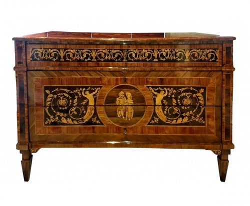 North Italian neoclassical marquetry commode, late 18th c.