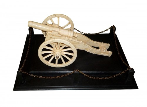Anglo-Indian bone model of cannon, Southern India, second half 19th c.