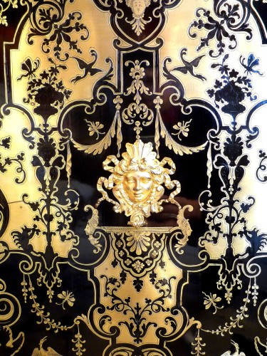 A French Louis XIV style Boulle marquetry on ebony cabinet - Napoléon III
