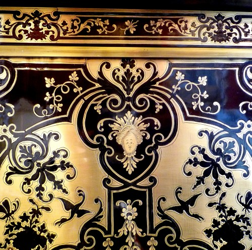Napoléon III - A French Louis XIV style Boulle marquetry on ebony cabinet