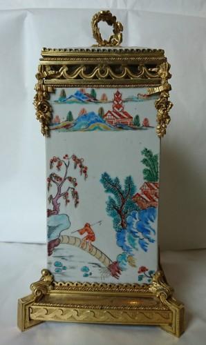 Pair of Japanese vases, c. 1710, mounts signed L'Escalier de Cristal -
