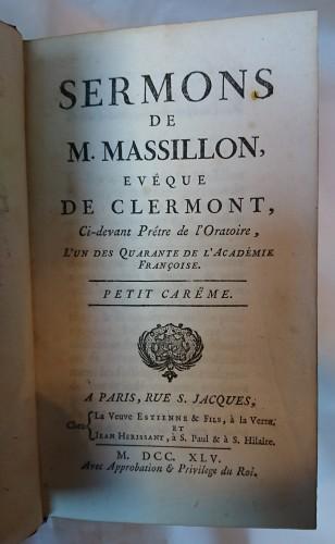 """""""Les Sermons de Massillon"""" Paris 1745 -"""