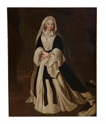 Paintings & Drawings  - A portrait of the Duchess de Bourbon-Condé, attr. to P. GOBERT, circa 1730