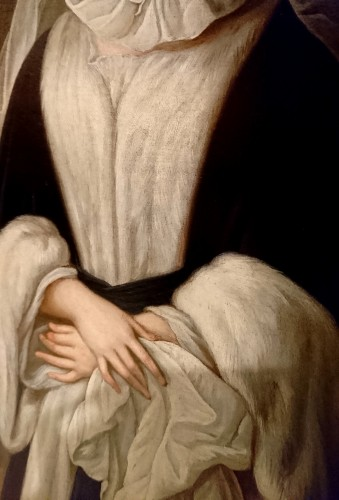 18th century - A portrait of the Duchess de Bourbon-Condé, attr. to P. GOBERT, circa 1730