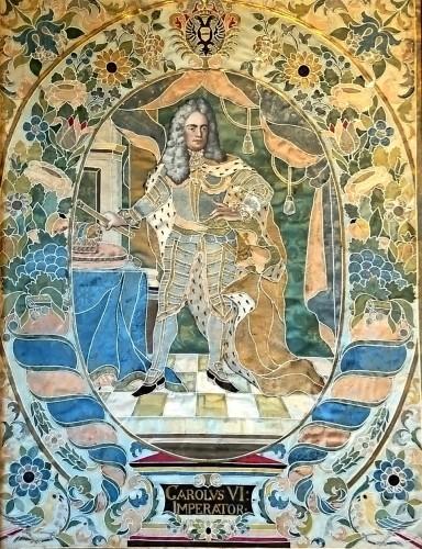 Paintings & Drawings  - Emperor Karl VI von Habsburg and his wife : Austrian silk on gouache panels