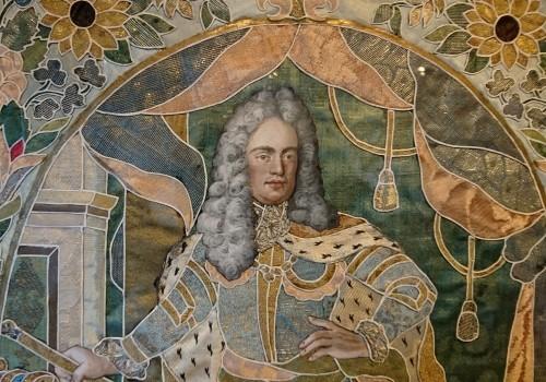 Antiquités - Emperor Karl VI von Habsburg and his wife : Austrian silk on gouache panels