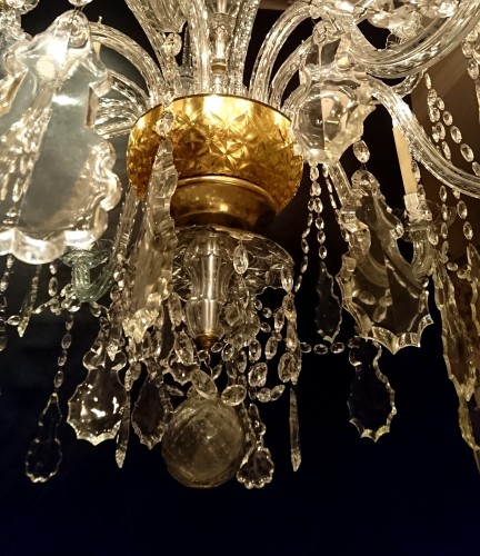 Spanish crystal chandelier, La Granja de S. Ildefonso, c. 1800 - Directoire