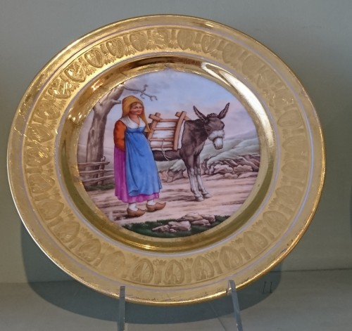 12 French Empire period Paris porcelain plates, Attributed to. Dihl et Guerhard -