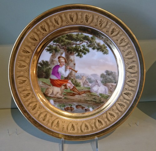 19th century - 12 French Empire period Paris porcelain plates, Attributed to. Dihl et Guerhard