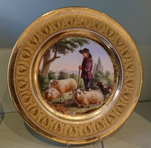 12 French Empire period Paris porcelain plates, Attributed to. Dihl et Guerhard - Empire