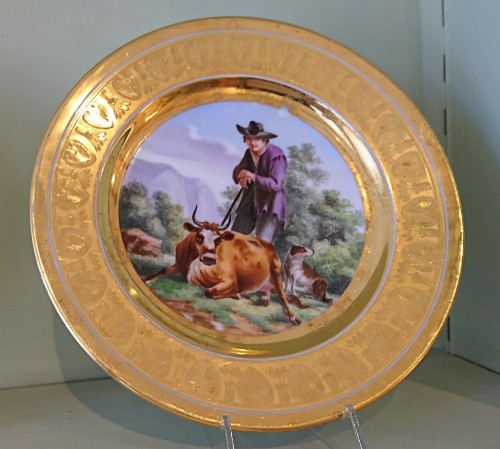 Empire - 12 French Empire period Paris porcelain plates, Attributed to. Dihl et Guerhard