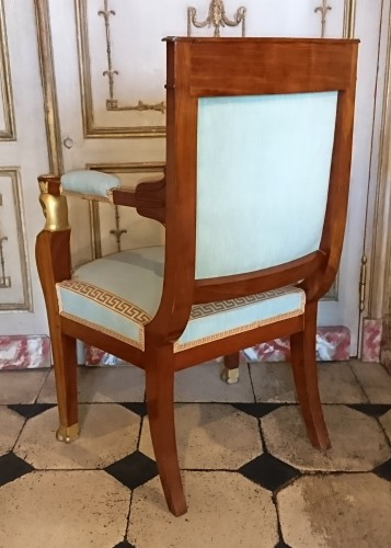 Empire - Four French Empire period mahogany armchairs, attributed to JACOB Frères
