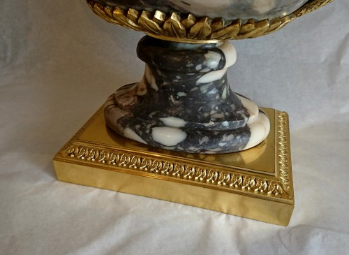 A French neoclassical marble and ormolu covered coupe - Empire