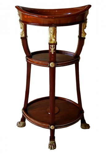 Small Empire period mahogany and gilt bronze table