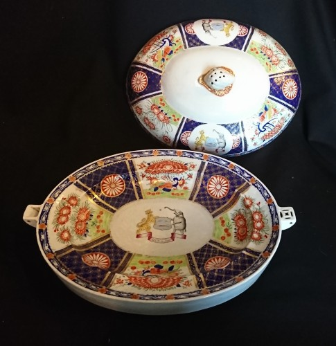 Porcelain & Faience  - A large Chinese export covered heating dish, circa 1820
