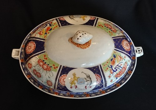A large Chinese export covered heating dish, circa 1820 - Restauration - Charles X