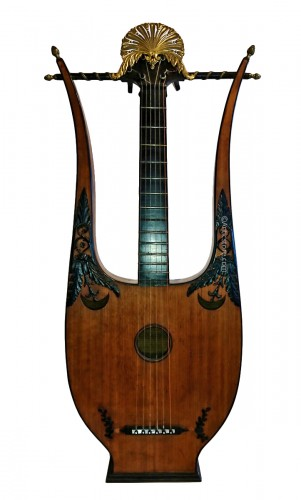 A French Consulate period lyre guitare attributed to Mareschal