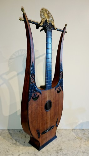 Curiosities  - A French Consulate period lyre guitare attributed to Mareschal