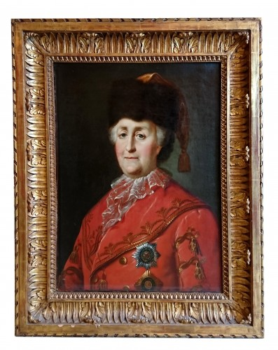 Portrait of the Empress Catherine the Great - attr. to M. Shibanov, c. 1787
