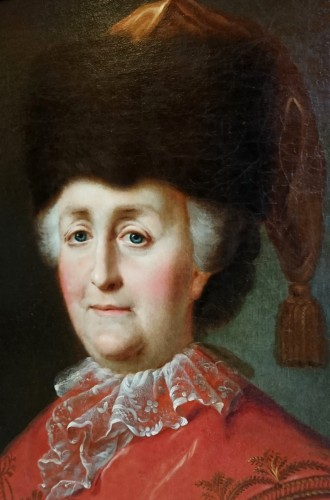 Portrait of the Empress Catherine the Great - attr. to M. Shibanov, c. 1787 - Paintings & Drawings Style Louis XVI